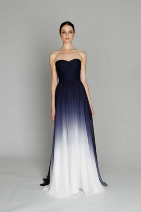 Выпускное платье в пол с градиентным рисунком
