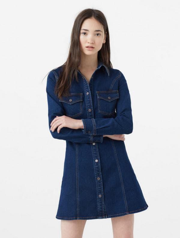 Джинсовое платье рубашка