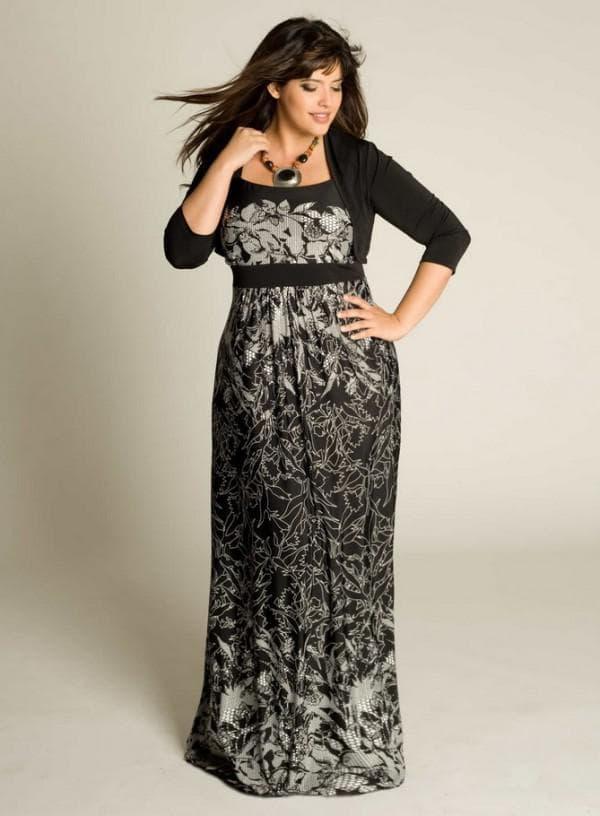 Вечернее платье размера плюс