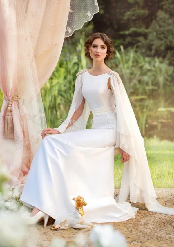 Свадебное платье с необычными рукавами