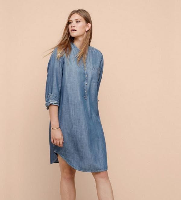 Джинсовое платье для полных женщин