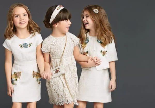 Белые повседневные платья для девочек
