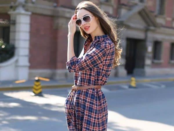 С чем носить платье-рубашку