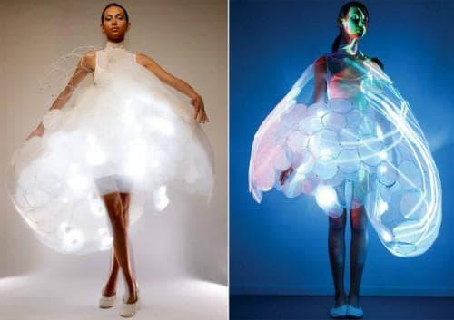 Платье со светодиодами