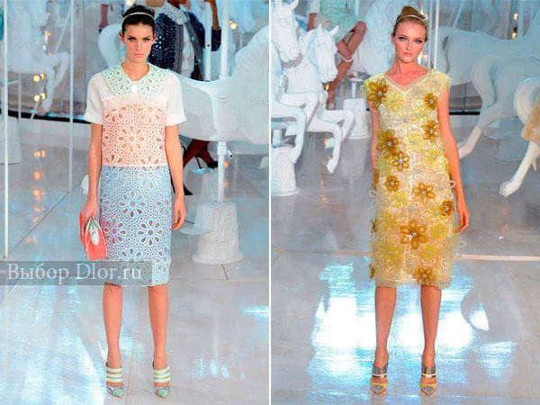 Модные ажурные платья