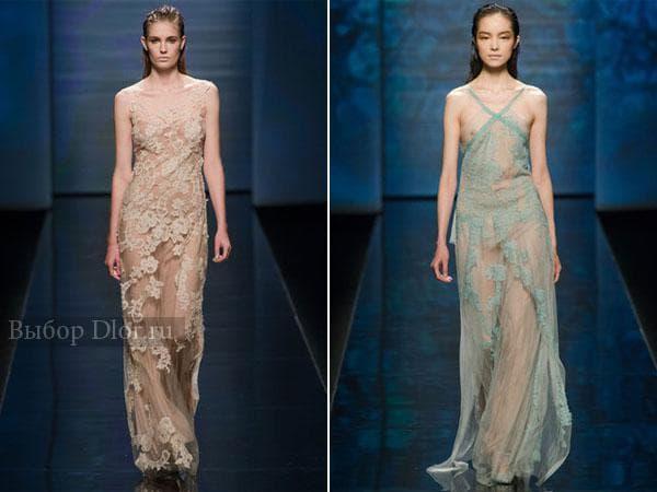 Длинные платья от Alberta Ferretti