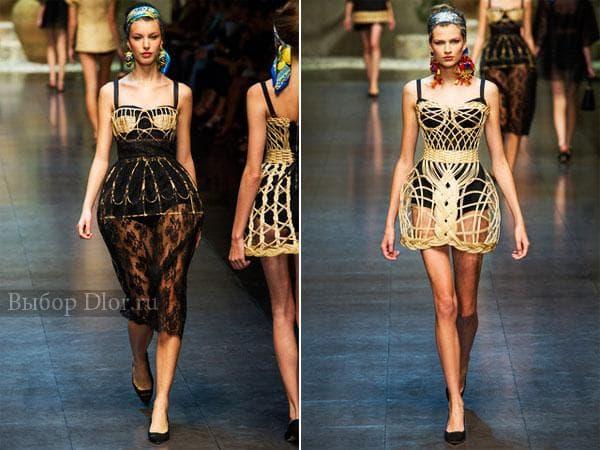 Оригинальные платья от Dolce & Gabbana