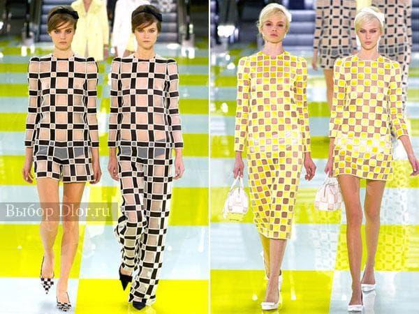 Платья в клетку от Louis Vuitton