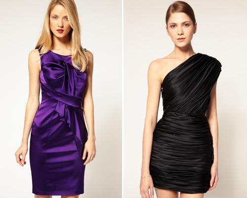 Фото: атласные платья
