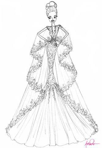 Эскиз свадебного платья от Хейли Пейдж