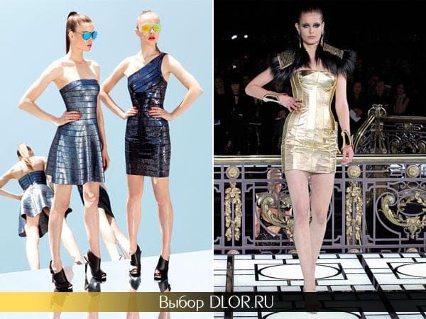 Блестящие платья от Herve Leger и Atelier Versace