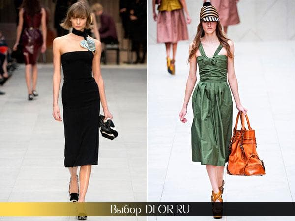 Фото строгих платьев бандо