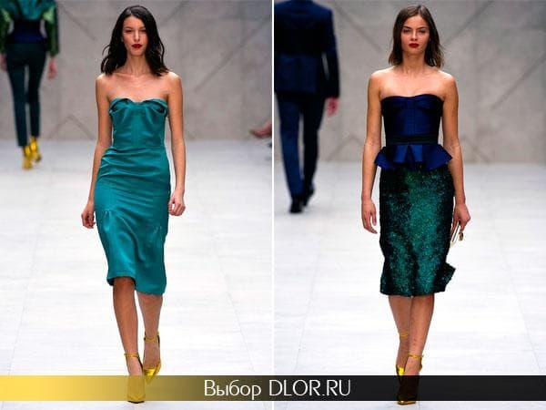 Фото платье бандо от  Burberry Prorsum