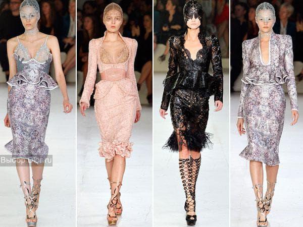 Платья Alexander McQueen 2012