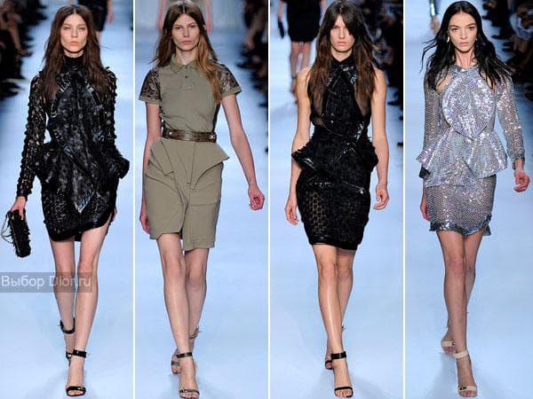 Вечерние платья средней длины с баской от Givenchy