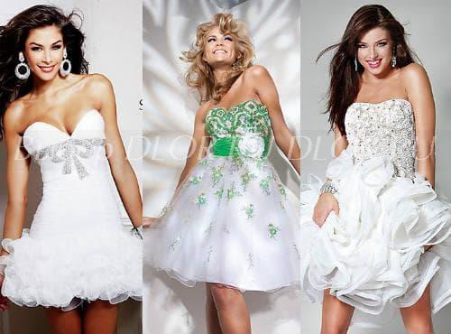 Коктейльные наряды для свадьбы