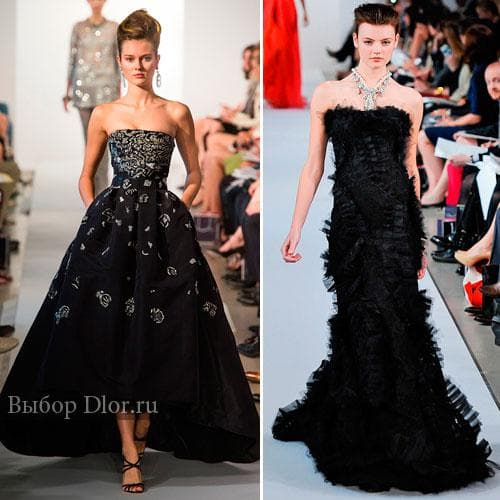 Платье с пышной юбкой и платье-русалка от Oscar de la Renta