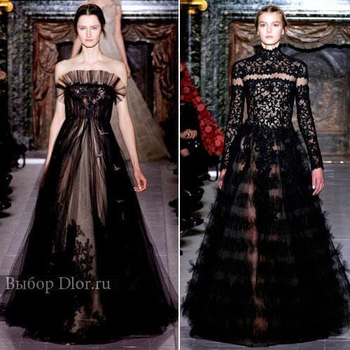 Кружевные длинные платья от Valentino