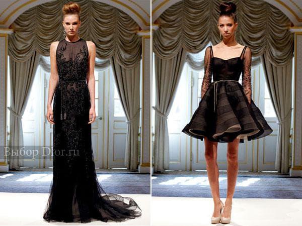 Черные вечерние платья от Dennis Basso
