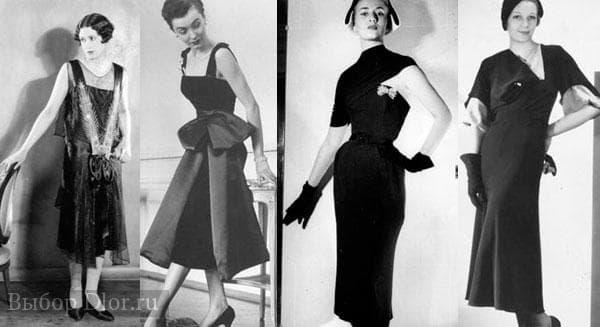 Фото маленького черного платья в 30-х годах