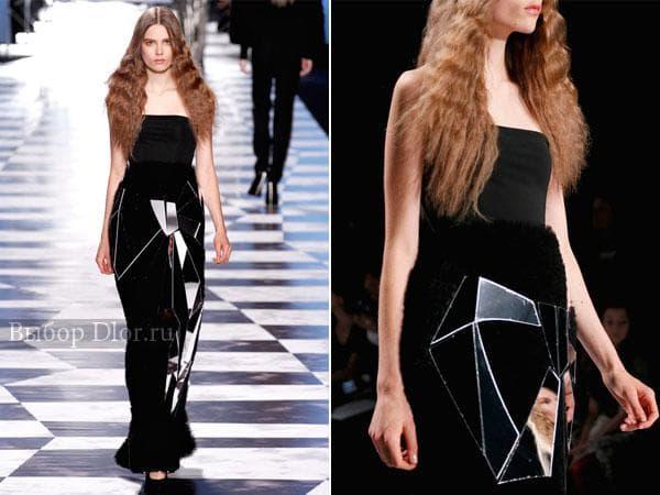 Платье с меховой юбкой от Viktor & Rolf