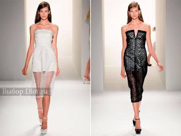 Платья украшенные кружевом от Calvin Klein