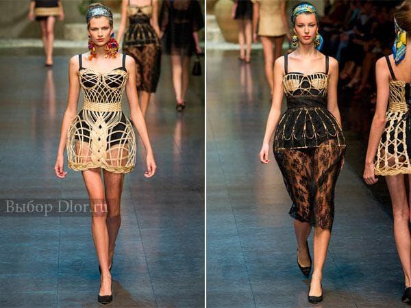 Платья из лозы от Dolce&Gabbana