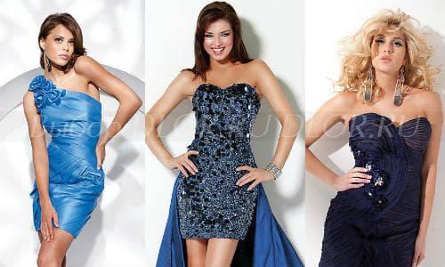Синие коктейльные платья