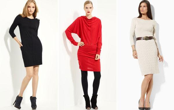 Черное, красное, молочное платье на каждый день