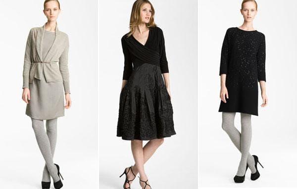 Теплые повседневные модели платьев
