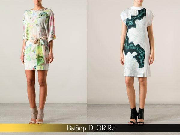 Летние атласные платья средней длины
