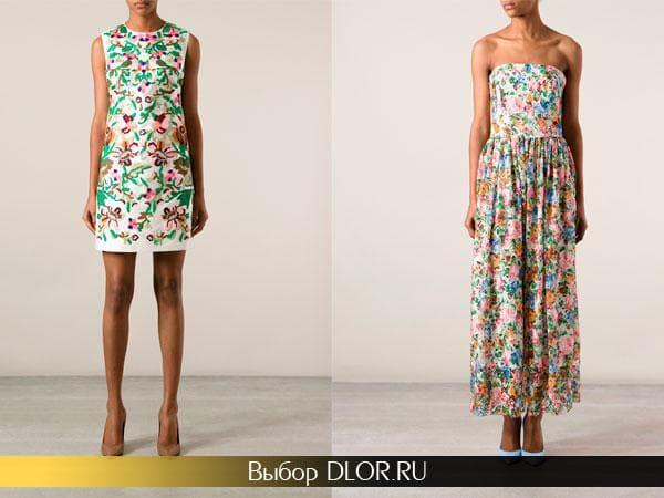 Платья и сарафаны цветочного принта