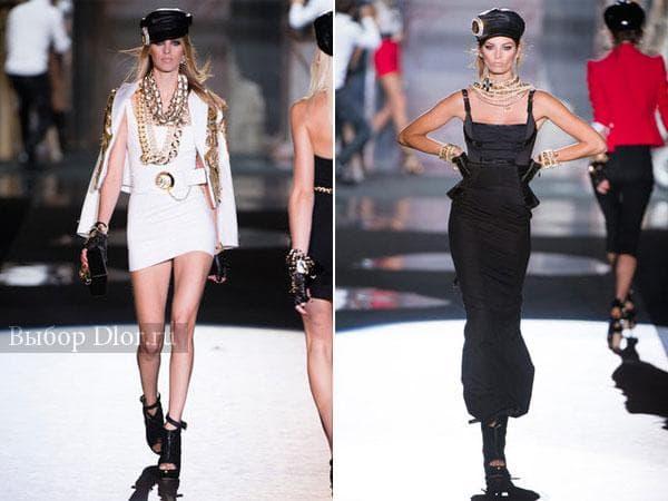 Белое и черное платье от Dsquared²