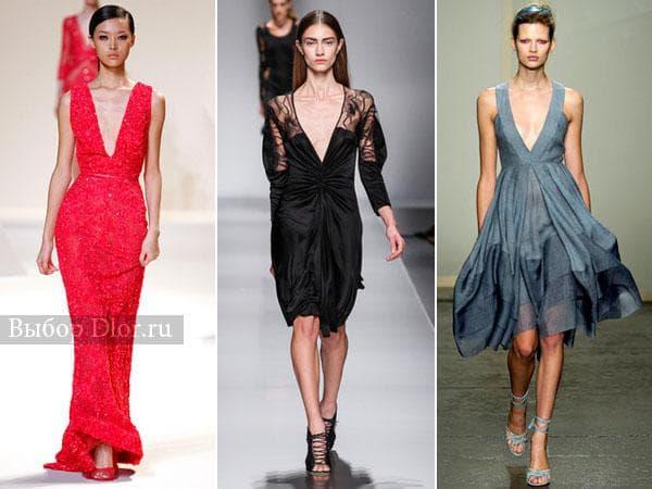 Красное, черное и синее платье