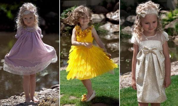Вечерние платья для малышей