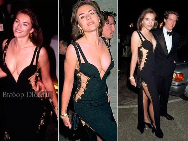 Элизабет Херли в знаменитом платье с булавками от Versace