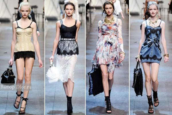 Платья из коллекции весна 2010