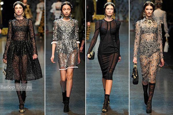 Dolce&Gabbana осень-зима 2012