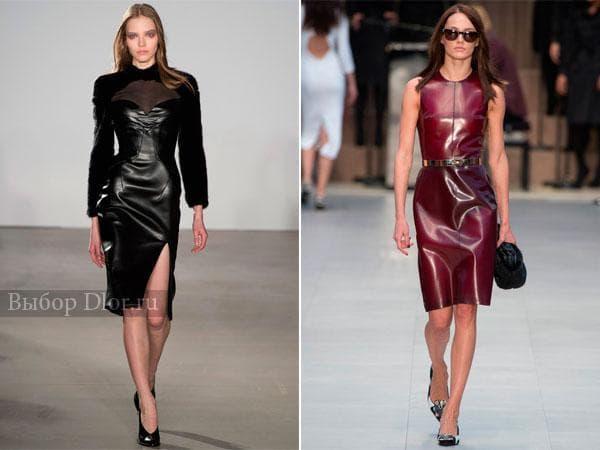 Фото строгих платье бордового и черного цвета