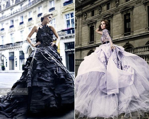Роскошные пышные платья