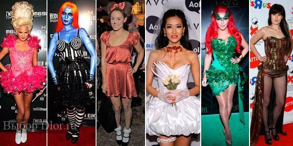Фото креативных образов и платьев на Хэллоуин