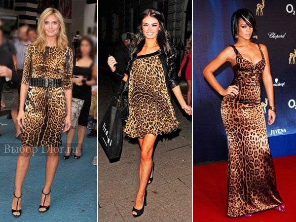 Шифоновые и атласные платья с леопардовым принтом