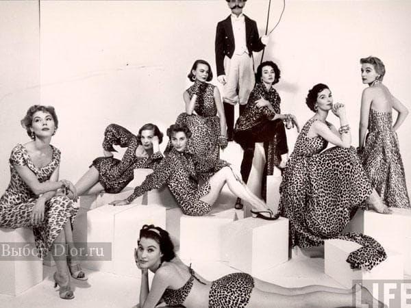 Платья с леопардом 40-х годов
