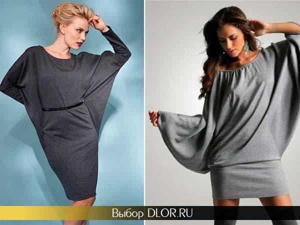Трикотажные платья серого цвета