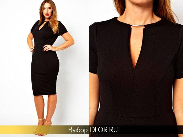 Черное платье-футляр от Asos