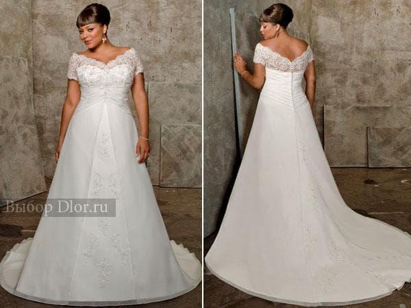 Свадебное платье для полных с завышенной талией