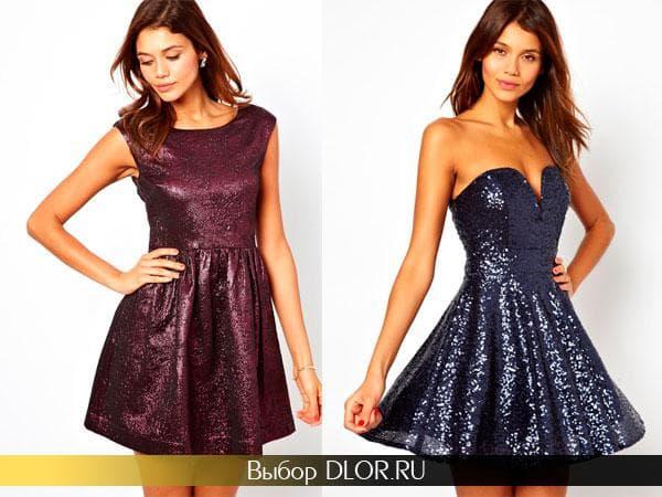 Блестящие новогодние платья