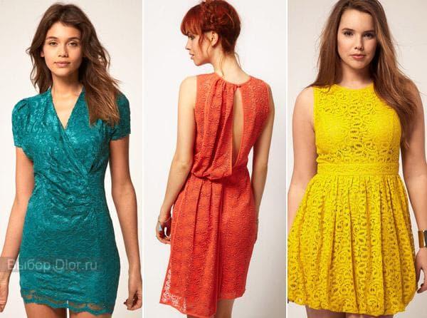 Фото платьев с кружевом