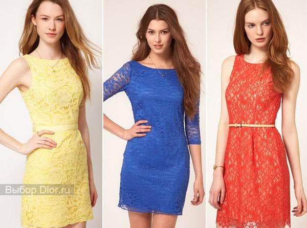 Желтый и красный сарафан и синее платье с рукавом