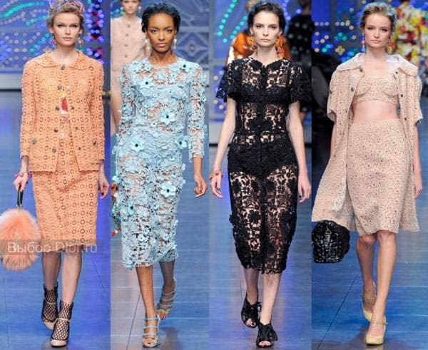Платья от Dolce and Gabbana